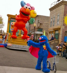 Sesame Place Neighborhood Street Party Parade